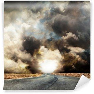 Vinylová Fototapeta Silnice v bouři