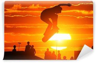 Vinylová Fototapeta Skákání extrémně vysokou skateboard skejťák
