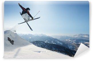 Vinylová Fototapeta Skákání lyžař