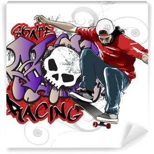 Vinylová Fototapeta Skate Racing