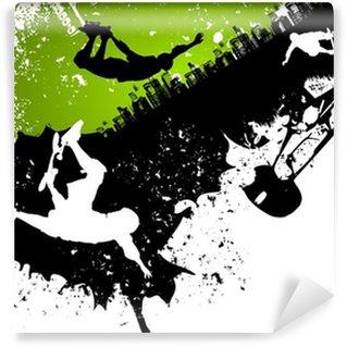 Vinylová Fototapeta Skateboard abstraktní pozadí