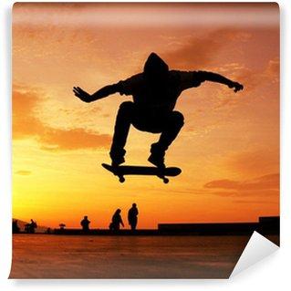 Vinylová Fototapeta Skateboard Silueta