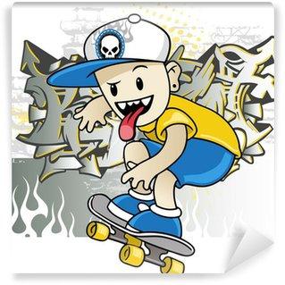 Vinylová Fototapeta Skater boy