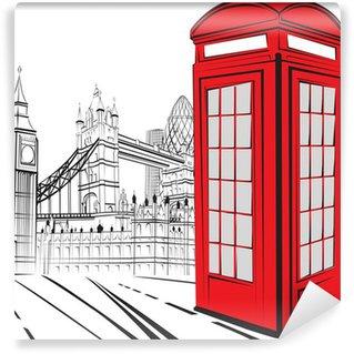 Vinylová Fototapeta Sketch London City