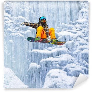 Vinylová Fototapeta Skok vodopádu ledu