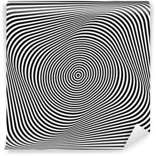 Fototapeta Winylowa Skręcanie iluzja. Op-art abstrakcyjna tła.