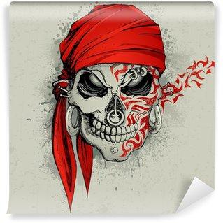 Vinylová Fototapeta Skull pozadí