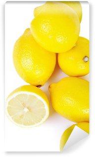 Vinylová Fototapeta Skupina citronů izolován v bílém