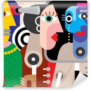 Vinylová Fototapeta Skupina mluví lidé