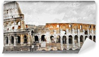Vinylová Fototapeta Skvělé Řím, panorama Colosseum