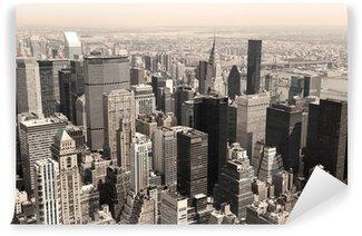 Fototapeta Vinylowa Skyline Manhattan, NYC - sepia obraz