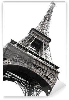 Vinylová Fototapeta Slavná Eiffelova věž v Paříži izolovaných na bílém