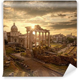 Vinylová Fototapeta Slavné římské ruiny v Římě, Hlavní město Itálie