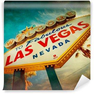 Vinylová Fototapeta Slavný Vítejte v Las Vegas podepsat s vintage textury