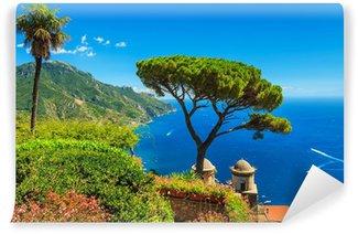 Vinylová Fototapeta Slavný zahrada Villa Rufolo Ravello, Amalfi pobřeží, Itálie
