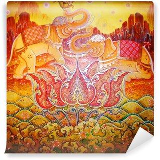 Vinylová Fototapeta Slon indický ilustrace.