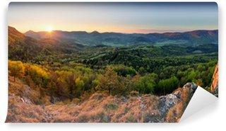 Vinylová Fototapeta Slovensko na jaře lesní panorama