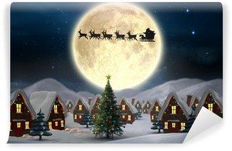 Vinylová Fototapeta Složený obraz roztomilé vánoční obce