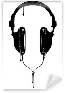 Fototapeta Winylowa Słuchawki malowane