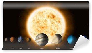 Vinylová Fototapeta Slunce a planet sluneční soustavy