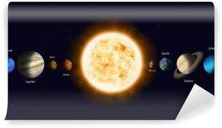 Vinylová Fototapeta Slunce s planetami sluneční soustavy