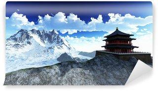 Vinylová Fototapeta Sluneční chrám - buddhistická svatyně v Himalájích