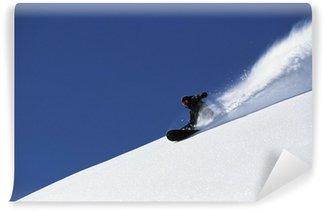 Vinylová Fototapeta Snowboard prášek