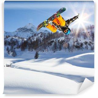Vinylová Fototapeta Snowboarder v akci