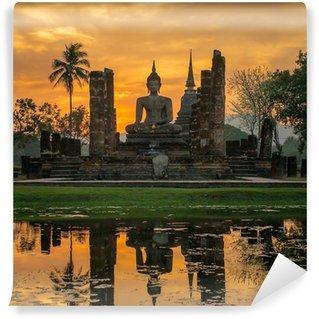 Vinylová Fototapeta Socha Buddhy v chrámu Wat Mahathat chrámu, Sukhothai Historický park,