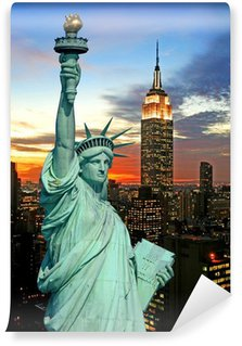 Vinylová Fototapeta Socha Svobody a panoráma New Yorku