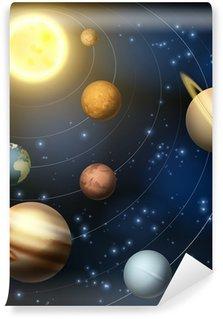 Vinylová Fototapeta Solární systém planety ilustrační