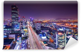 Vinylová Fototapeta Soul, Jižní Korea Gangnam Okres Skyline