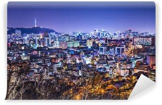 Vinylová Fototapeta Soul, Jižní Korea Panoráma s Seoul Tower