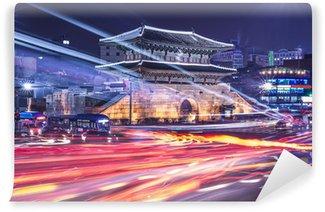 Vinylová Fototapeta Soul, Jižní Korea Panoráma