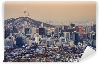 Vinylová Fototapeta Soul, Jižní Korea Skyline