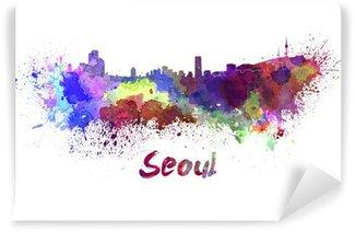 Vinylová Fototapeta Soul skyline v akvarel