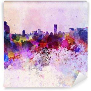 Vinylová Fototapeta Soul skyline v akvarelu pozadí