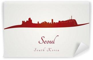 Vinylová Fototapeta Soul skyline v červené barvě