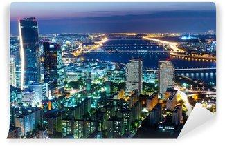 Vinylová Fototapeta Soul skyline v noci
