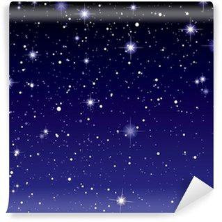 Vinylová Fototapeta Space pohled temné hvězdy nebe
