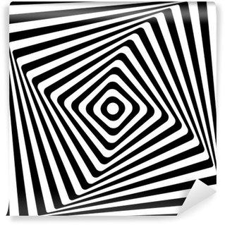 Fototapeta Winylowa Spirala streszczenie Plac wzór czarno-białe tło.