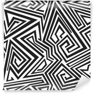 Fototapeta Winylowa Spiralne linie monochromatyczny wzór bez szwu