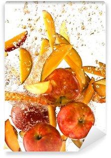 Vinylová Fototapeta Splash čerstvých jablek a manga