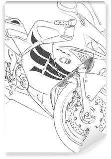 Vinylová Fototapeta Sport bike skica © karl O'Sullivan