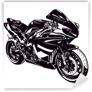 Vinylová Fototapeta Sportovní motorka izolovaných na bílém
