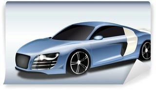 Vinylová Fototapeta Sports Car Metallic Celeste