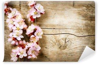 Fototapeta Vinylowa Spring Blossom na tle drewna