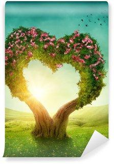 Vinylová Fototapeta Srdce ve tvaru stromu