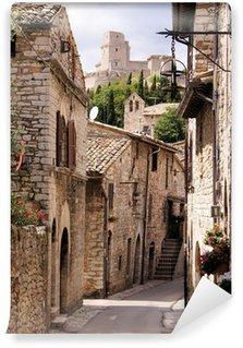 Fototapeta Winylowa Średniowieczna ulica włoski