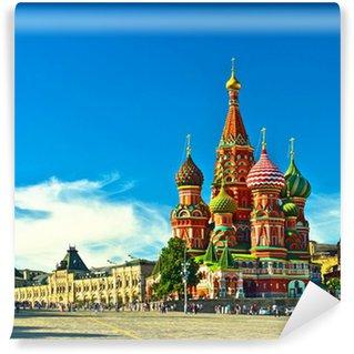 Fototapeta Vinylowa St Basils katedra; Moskwa, Rosja